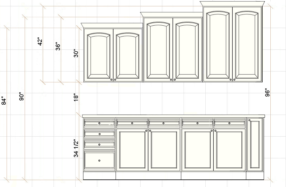 Ceiling Height For Kitchen Cabinets